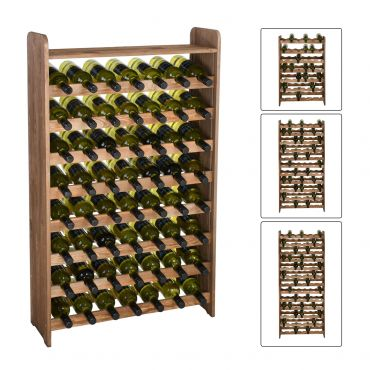 Portrabottiglie vino OPTIPLUS in legno marrone
